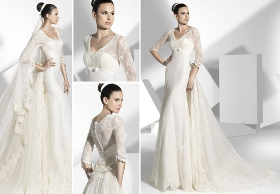 2013 wedding dress Franc Sarabia bridal gowns Spanish designers 1