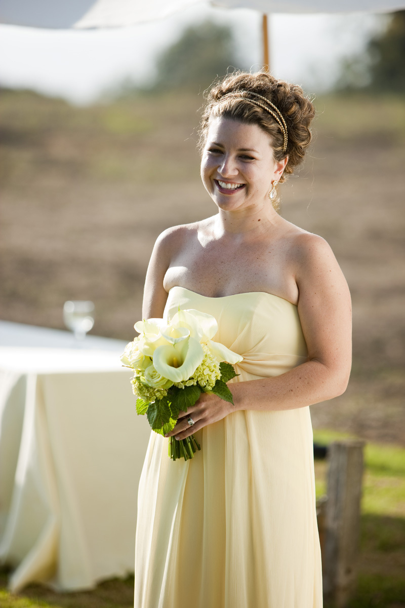 Light pink bridesmaids dresses with green sashes ombrellifo Choice Image