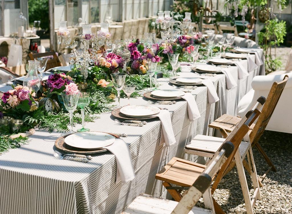 Tea Time Styled Wedding Shoot Feautring Monique Lhuillier