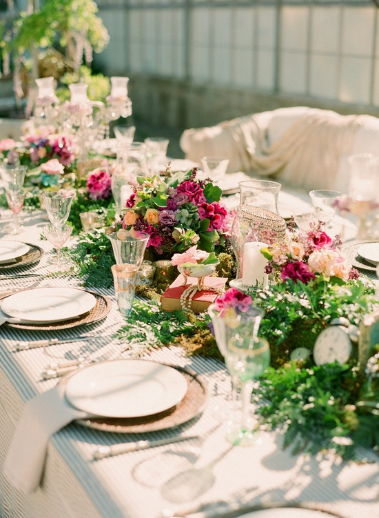 Tea Time Styled Wedding Shoot Featuring Monique Lhuillier