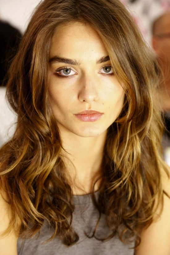 bridal beauty inspiration wedding hair ideas from fashion week untamed down do DVF