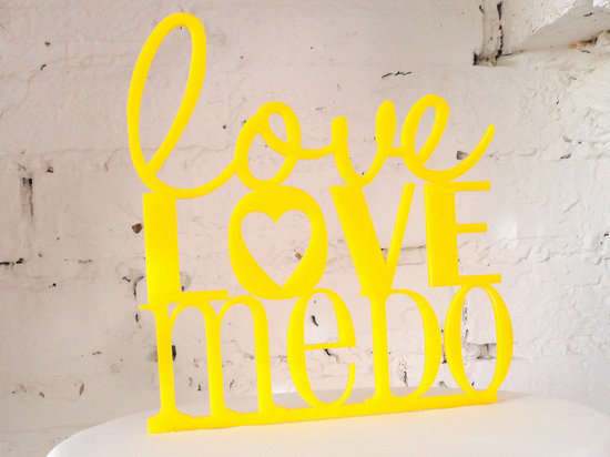 creative wedding cake toppers on Etsy Pinterest yellow