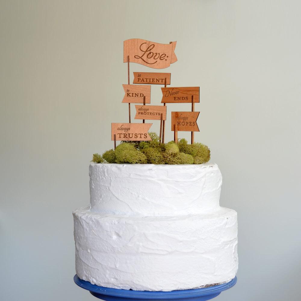 Etsy Cake Decor : creative wedding cake toppers on Etsy Pinterest wood flags ...