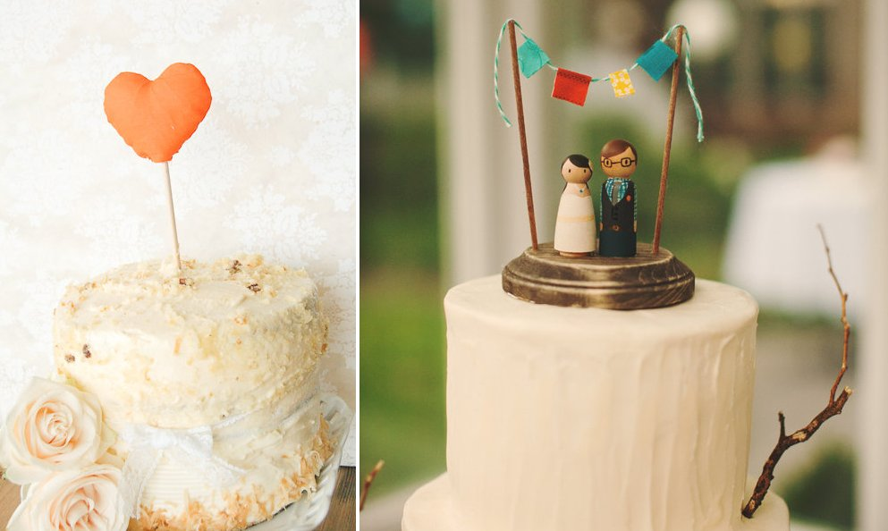 creative wedding cake toppers handmade weddings