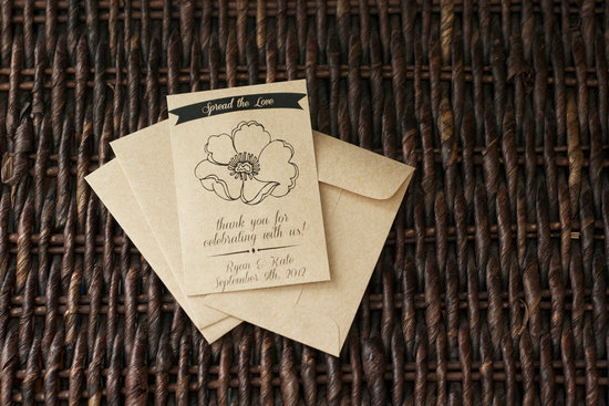 handmade wedding stationery decor using kraft paper Etsy weddings 5