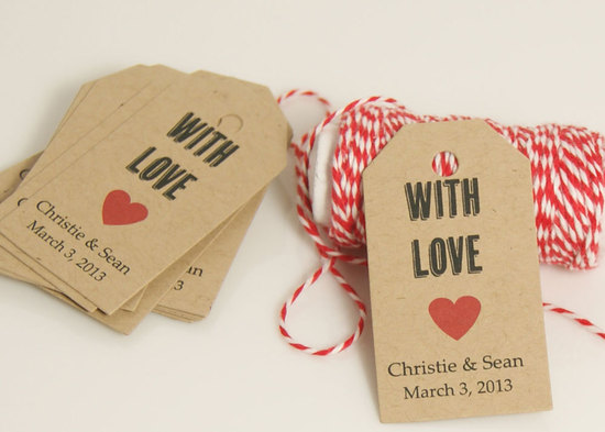 handmade wedding stationery decor using kraft paper Etsy weddings favor tags 1