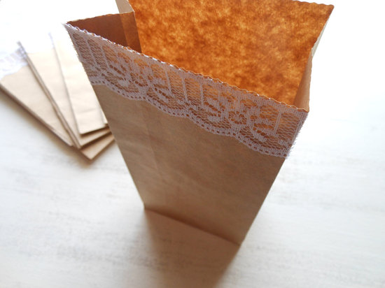 handmade wedding stationery decor using kraft paper Etsy weddings lace trimmed