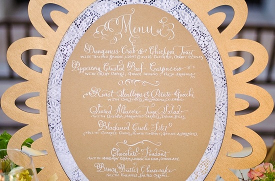 handmade wedding stationery decor using kraft paper Etsy weddings menu