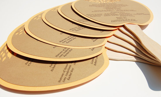 handmade wedding stationery decor using kraft paper Etsy weddings fan programs