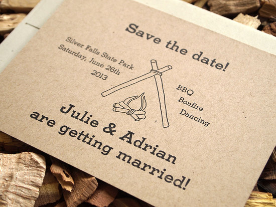handmade wedding stationery decor using kraft paper Etsy weddings rustic letterpress