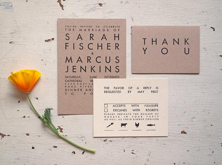 handmade wedding stationery decor using kraft paper Etsy weddings ...