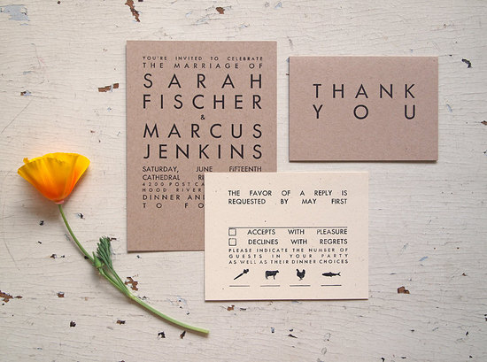 handmade wedding stationery decor using kraft paper Etsy weddings 11