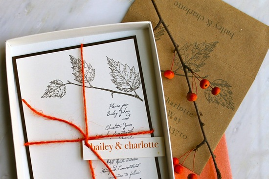 handmade wedding stationery decor using kraft paper Etsy weddings fall love