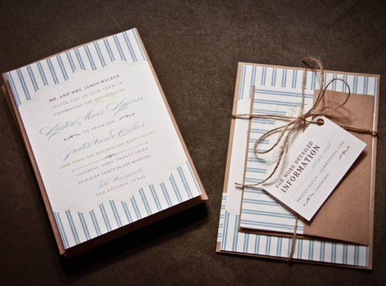 handmade wedding stationery decor using kraft paper Etsy weddings 13