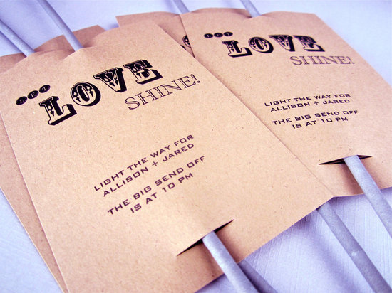 handmade wedding stationery decor using kraft paper Etsy weddings sparkler sendoff