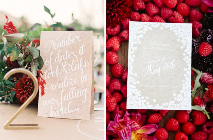 kraft paper wedding pretties for DIY brides outdoor romantic wedding
