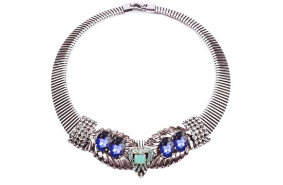 something blue wedding jewelry bridal bling from Lulu Frost statement necklace