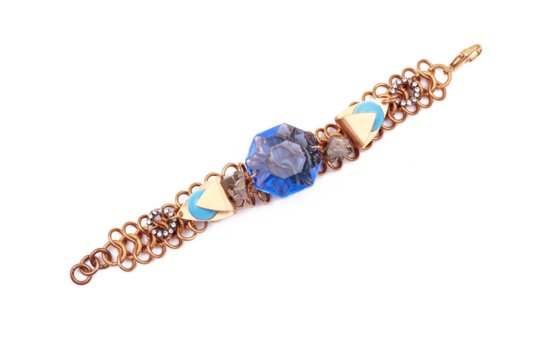 something blue wedding jewelry bridal bling from Lulu Frost antique inspired bracelet