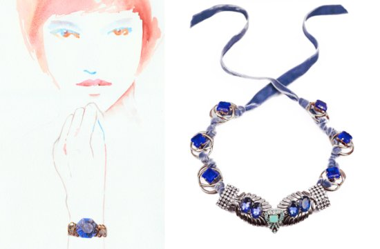 something blue wedding jewelry bridal bling by Lulu Frost 10