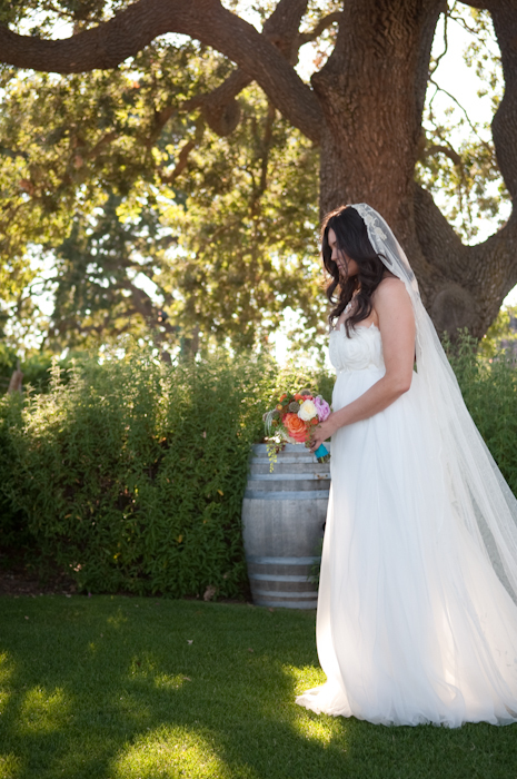 Real-wedding-santa-barbara-chic-michael-and-anne-costa-photography-outdoor-winery-vibrant-colors-bride-wedding-dress-veil-bouquet-282.full