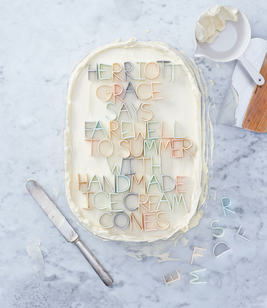 photo of Fondant Lettering for Your Wedding Cake