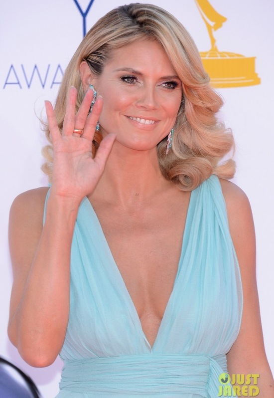 best wedding hair makeup inspiration from 2012 emmys bombshell waves Heidi Klum