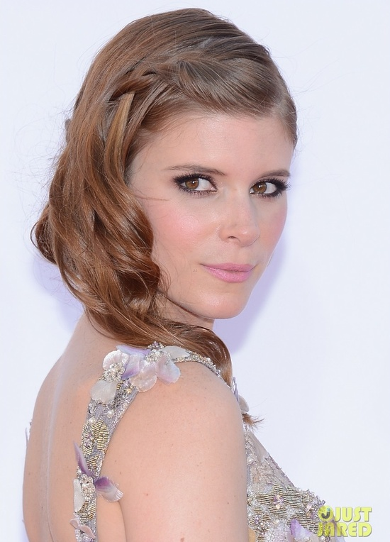 best wedding hair makeup inspiration from 2012 emmys bohemian braid Kate Mara