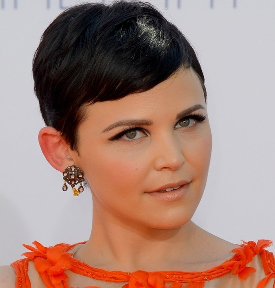 best wedding hair makeup inspiration from 2012 emmys mod pixie Ginnifer Goodwon