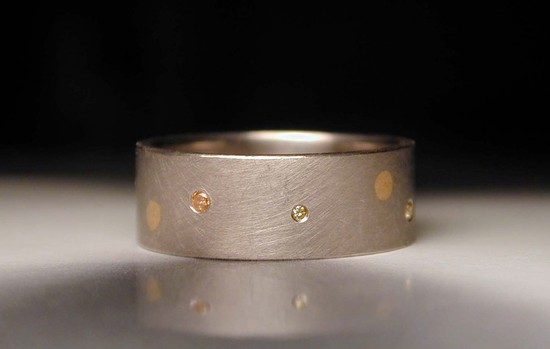 wedding inspiration from Etsy polka dots grooms wedding band