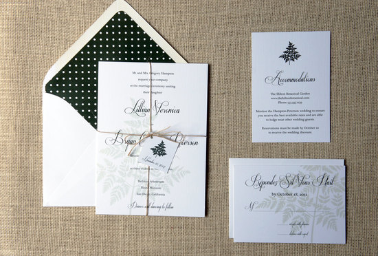 wedding inspiration from Etsy polka dots BLACK WHITE INVITATION