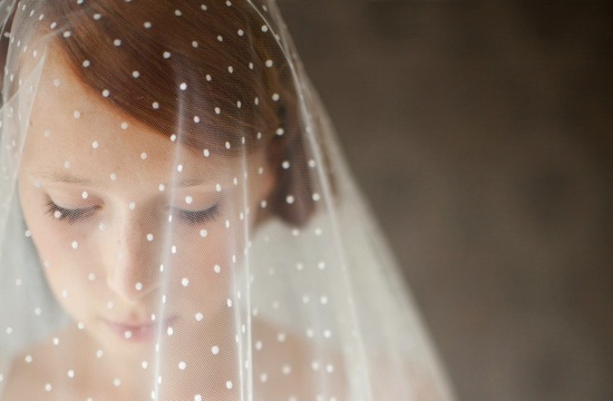 wedding inspiration from Etsy polka dots romantic veil