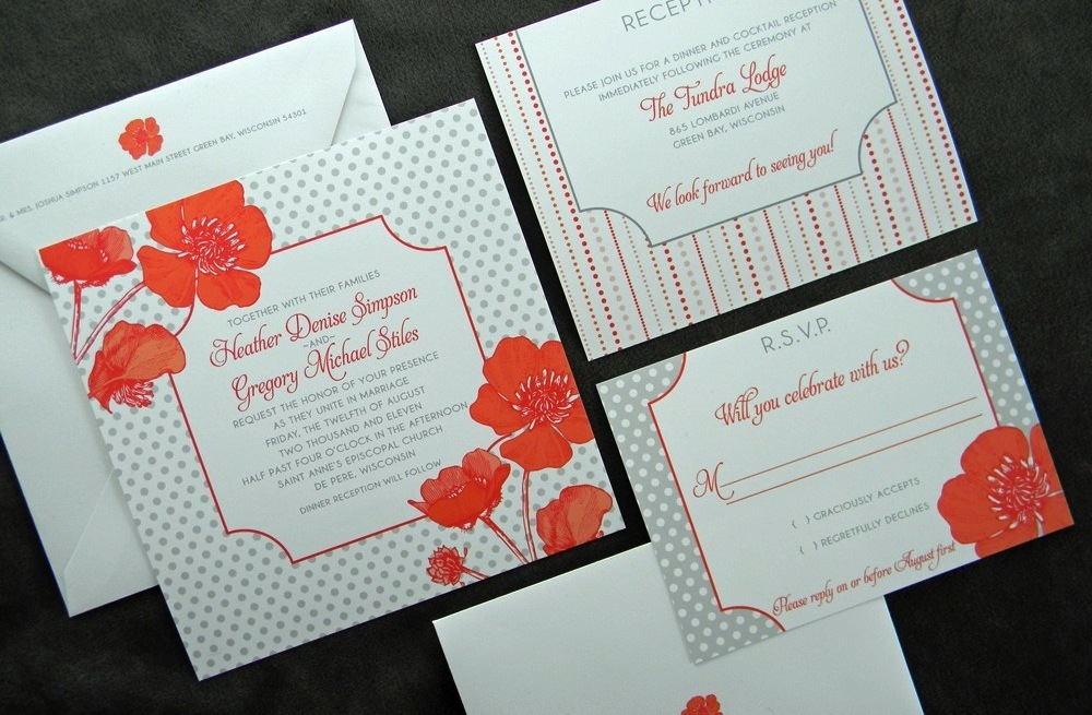 Wedding-inspiration-from-etsy-polka-dots-orange-gray-poppy-invites.full