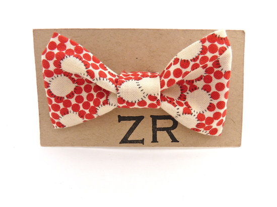 wedding inspiration from Etsy polka dots funky bow tie 2