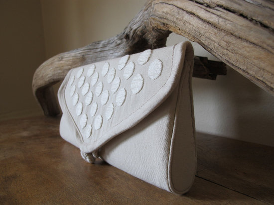 wedding inspiration from Etsy polka dots eco friendly clutch