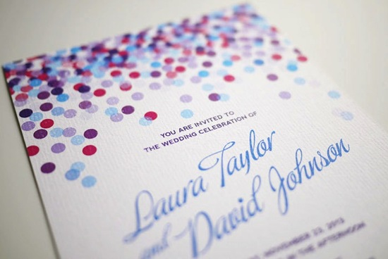wedding inspiration from Etsy polka dots DIY invitation