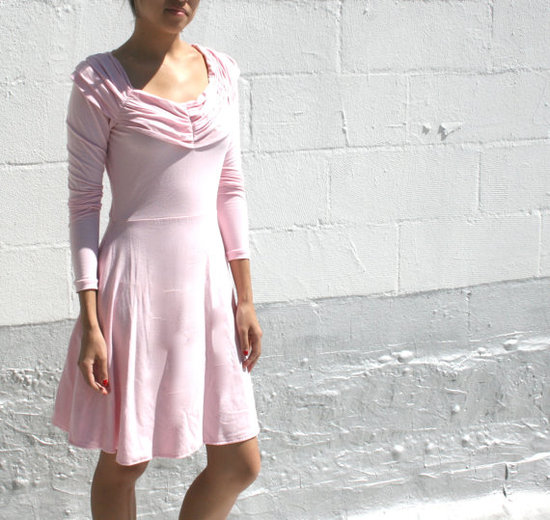 photo of Pleated Cowl Womens Organic Dress by Etsy seller Seven Blooms, $110.