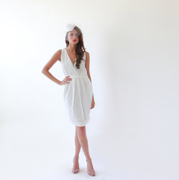 photo of Sexy White Bridesmaid Dress by Etsy seller Blushfasion, $89.