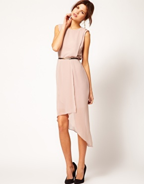 photo of Warehouse Open Back Wrap Dress at Asos, $103.48.