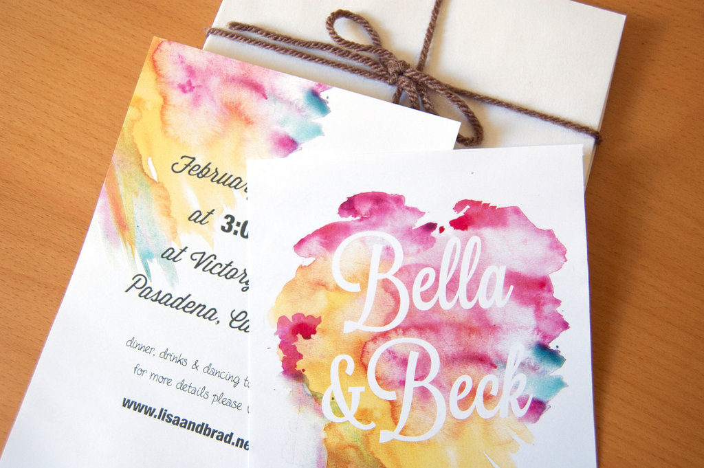 gorgeous watercolor wedding finds romantic invitations