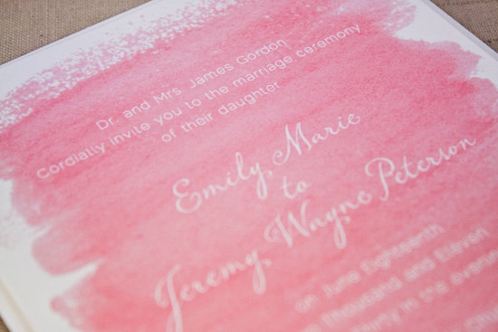watercolor wedding invitations handmade weddings by Etsy romantic pink