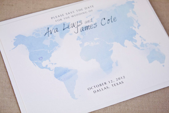 watercolor wedding invitations handmade weddings by Etsy travel save the date