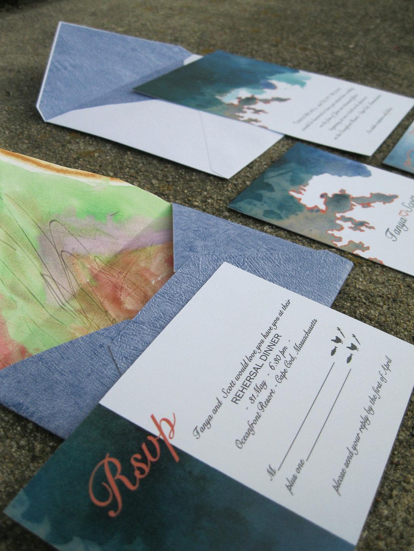 watercolor wedding invitations handmade weddings by Etsy printable