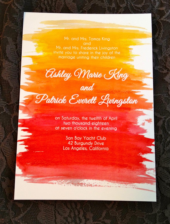 sunset wedding invitations - 28 images - peaceful sunset wedding ...