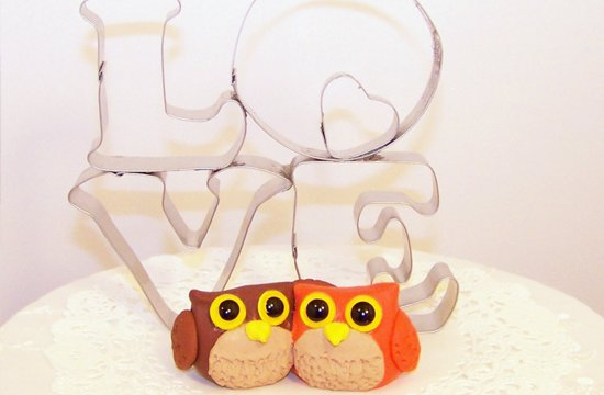owl wedding pretties for whimsical fall weddings lucite cake topper