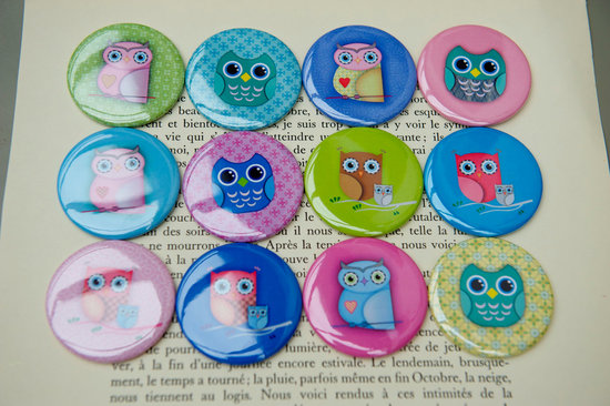 owls for the wedding 2012 reception trends handmade owl compact mirrors for bridesmaids
