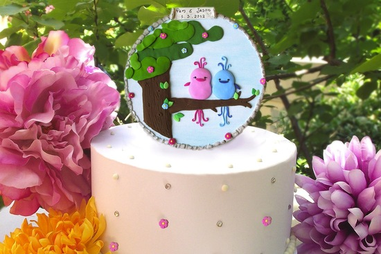 owls for the wedding 2012 reception trends handmade owl pastel romantic