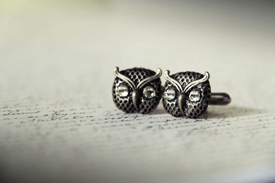 owls for the wedding 2012 reception trends handmade owl grooms cufflinks