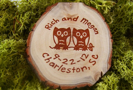 owls for the wedding 2012 reception trends handmade owl wood favors