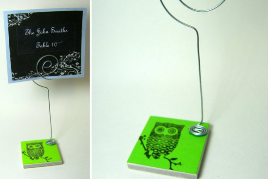 owl wedding finds from Etsy weddings neon green