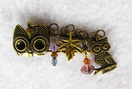owls for the wedding 2012 reception trends handmade owl brooch charm
